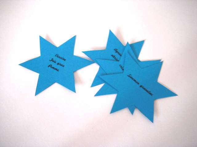 menu étoile noel