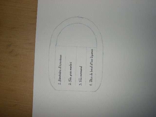 création menu mariage panier en papier tissé  faire soi même