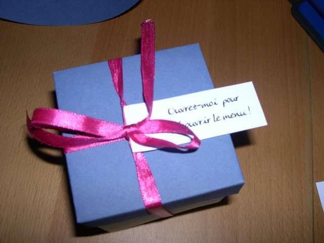 Fabuleux realisation menu paquet cadeau 3D LD24