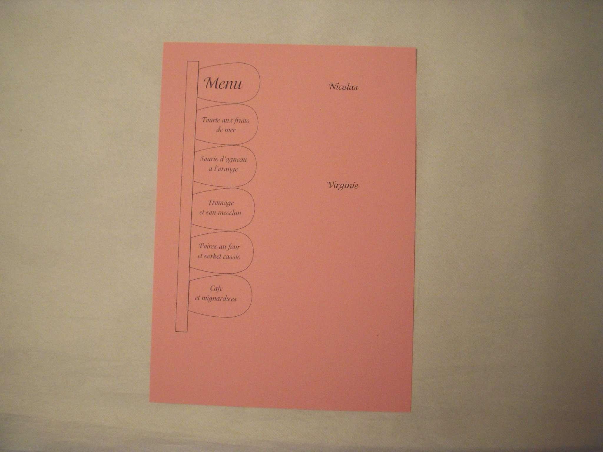 réalisation modèle menu mariage thème champêtre nature photophore fleur loisirs créatifs
