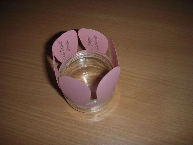 réalisation  menu mariage thème champêtre  photophore fleur  mode d'emploi  pot de yaourt en verre