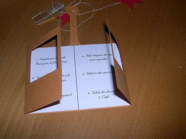 réalisation menu mariage cabine téléphérique  montagne hiver  tutoriel fiche technique