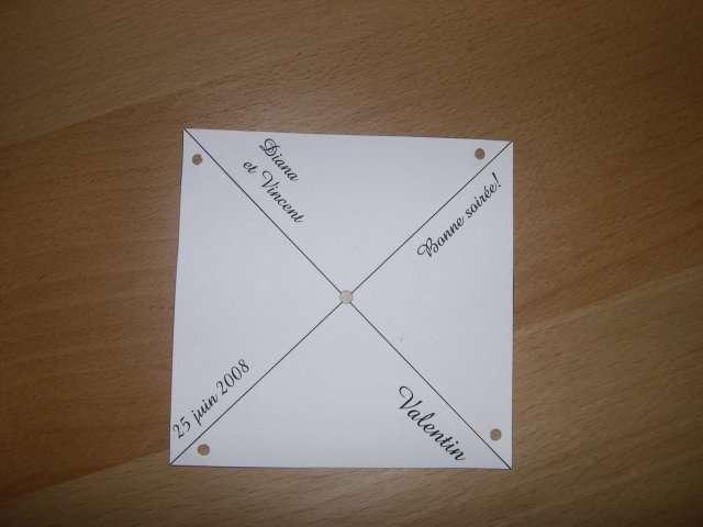 réalisation marque place  moulin à vent en papier explication mode d'emploi