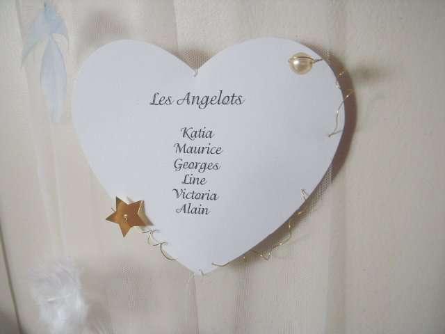 realisation plan de table mariage anges tutoriel faire soi même