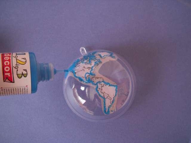 porte alliances globe, mariage voyage, faire soi même, bouleplastique, windows color