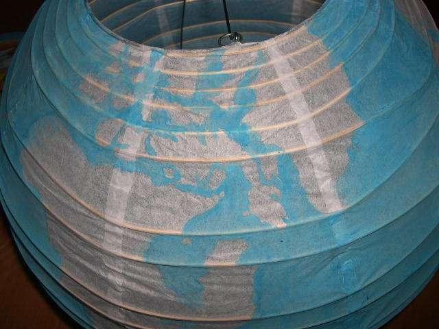création urne globe explication mode d'emploi  lampion boule chinois en papier