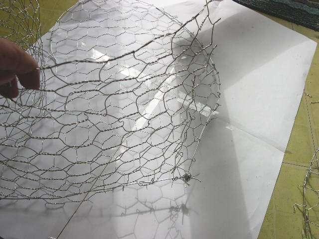 création  réalisation urne coeur en grillage thème champêtre nature papillon mode d'emploi tutoriel