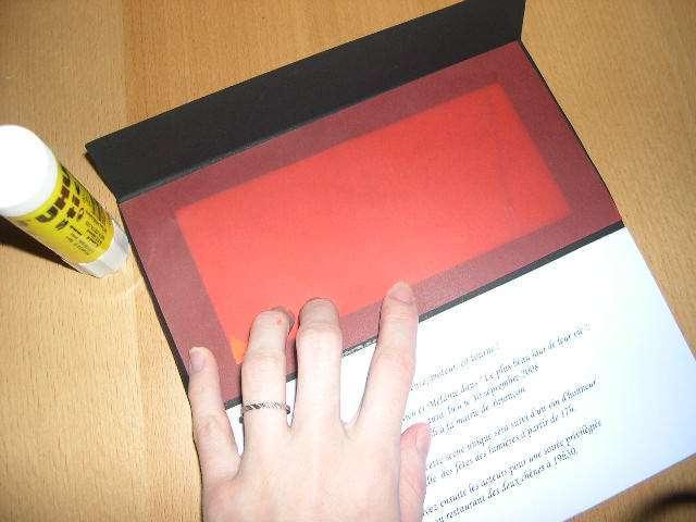 réalisation faire part mariage thème cinéma tutoriel fiche technique  papier calque