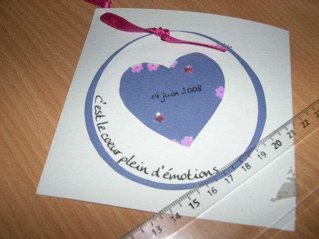 réalisation faire part  mariage thème surprise enfance  bricolage faire soi même rond coeur shaker box