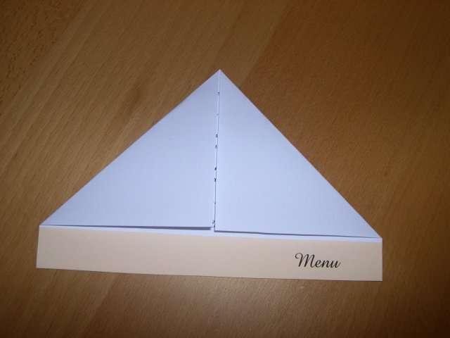 réalisation menu mariage avion en papier  tutoriel fiche technique l