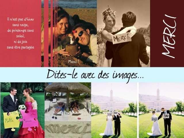 remerciements de mariage pancarte mercis photo plage mer paris - Remerciement Mariage Personne Absente