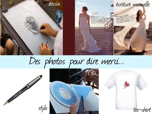 remerciements de mariage dessin portrait criture sur photo cd stylo personnalis tee sirt - Remerciement Mariage Personne Absente