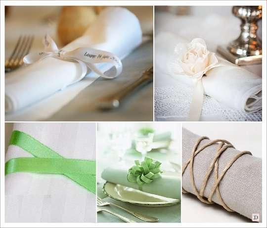 Des idées pour le rond de serviette