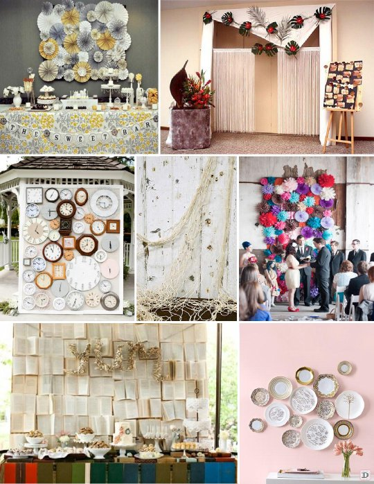 Idees decoration salle mariage for Decorer un mur interieur