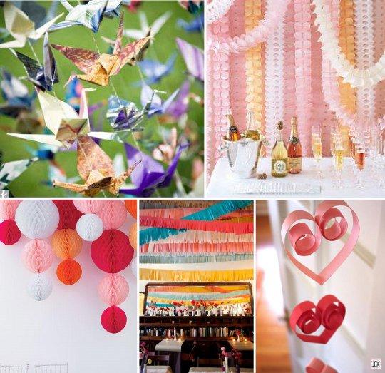 Idees decoration salle mariage - Decoration avec papier ...