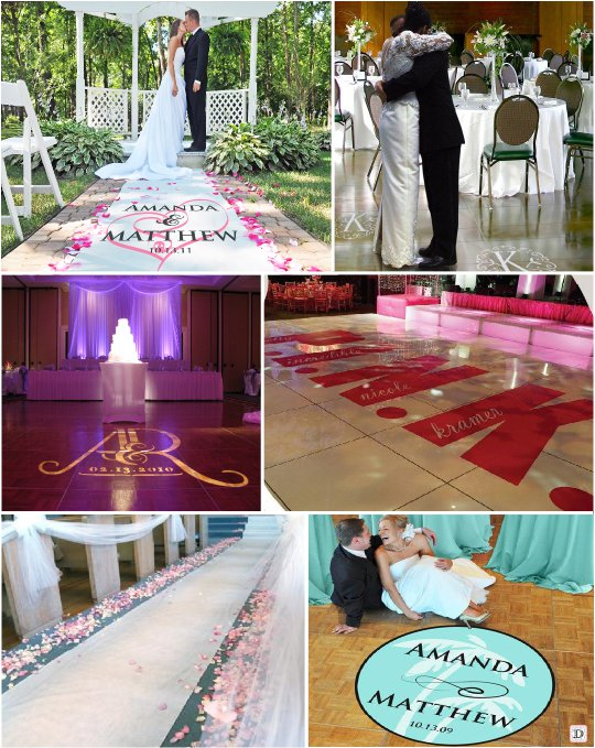 decoration_salle_mariage_sol_tapis_personnalise_sticker