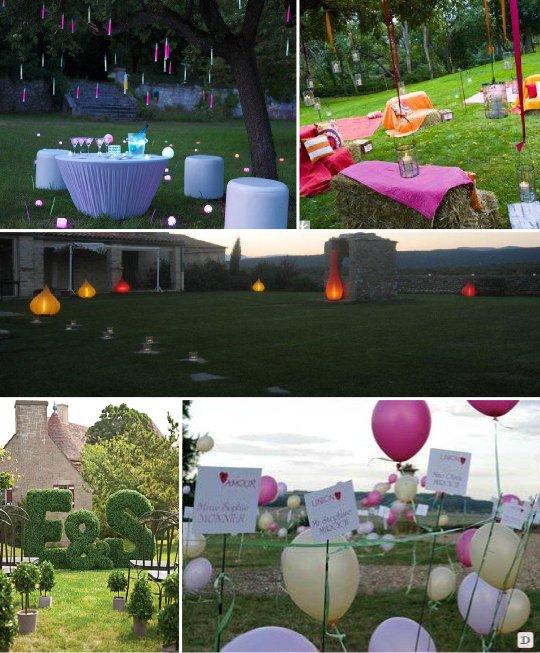 Idees decoration salle mariage for Decoration pour mur exterieur de jardin