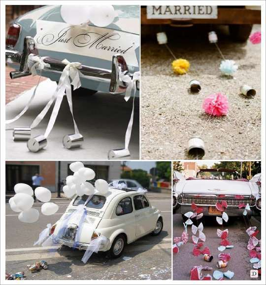 Pin decoration de voiture mariage 2 cv on pinterest for Decoration voiture mariage
