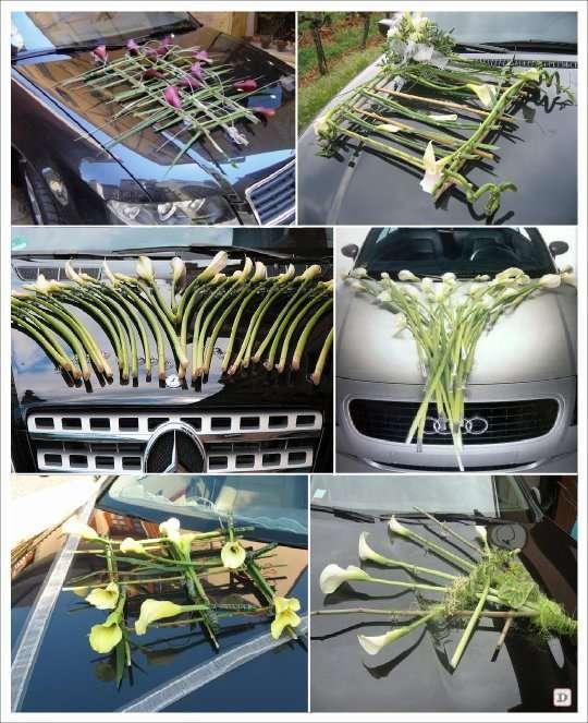 decoration voiture mariage fait main