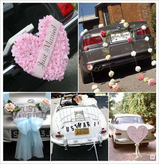deco voiture mariage a faire soi meme. Black Bedroom Furniture Sets. Home Design Ideas