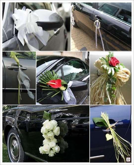 decoration_voiture_mariage_original_poignee_fleur - Decoration Voiture Cortege Mariage