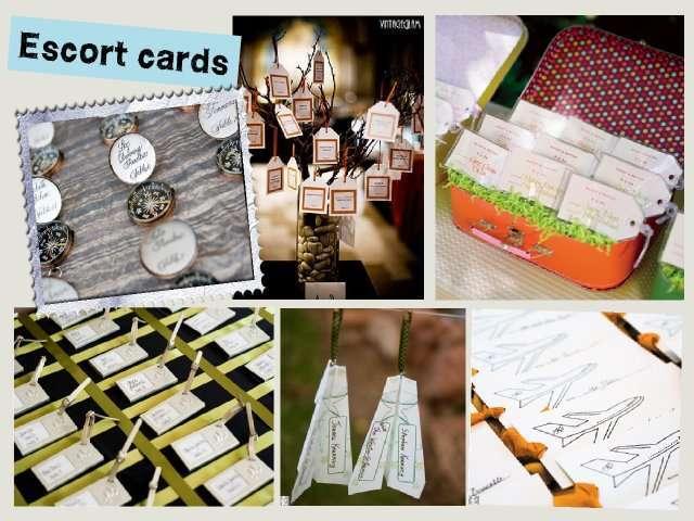 Escort cards  Déco  Pinterest