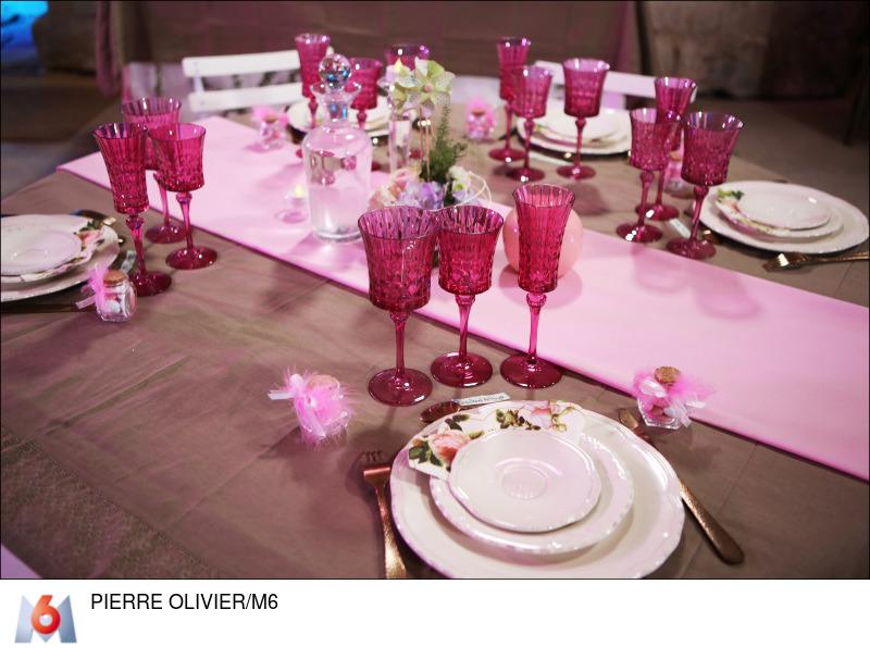 decoration mariage vintage taupe et rose