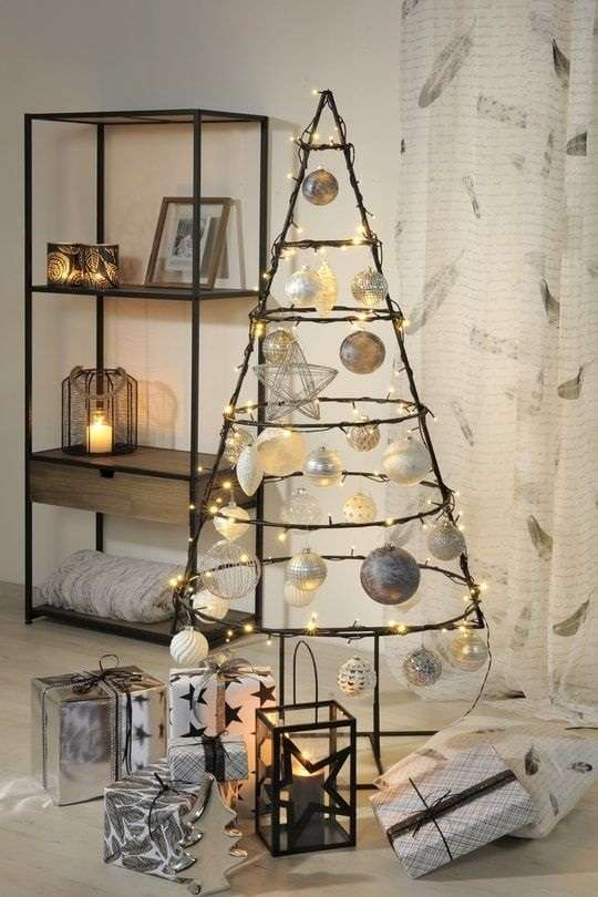 decoration noel sapin industriel design