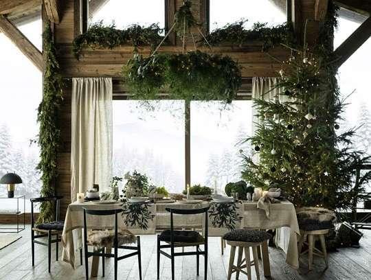decoration noel vegetal branchage