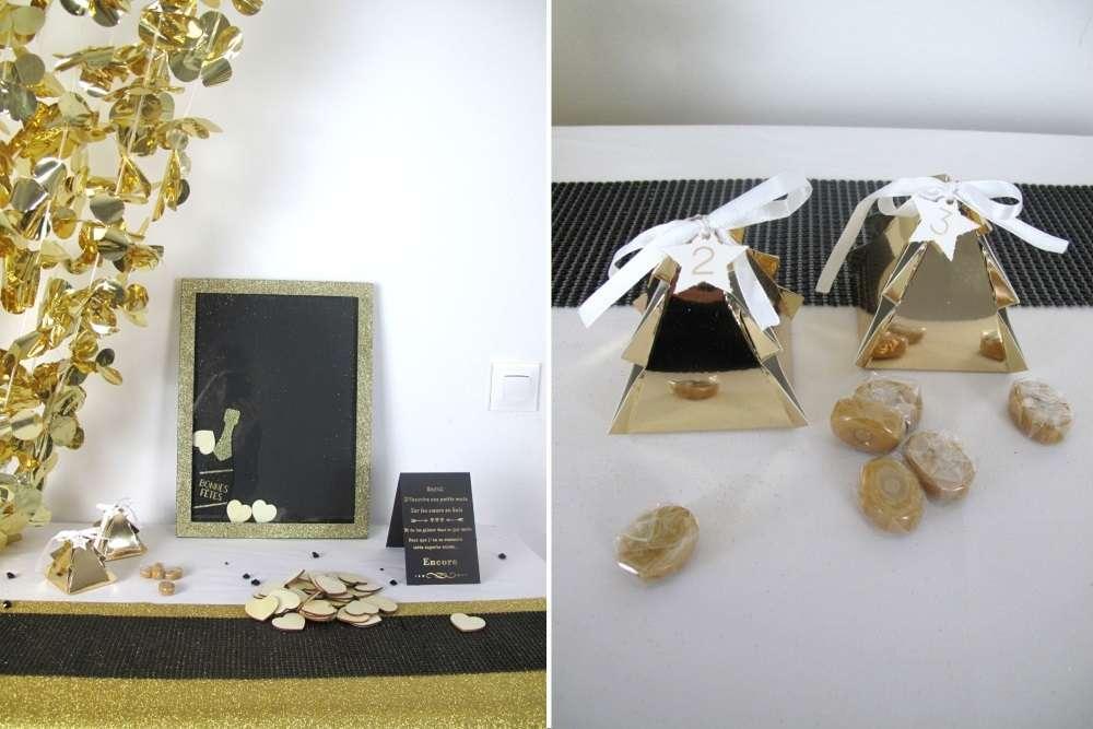 decoration nouvel an art déco cadre à message livre d'or et calendrier de l'avent