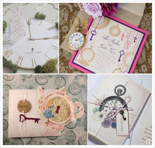 decoration mariage alice au pays des merveilles faire part invitation