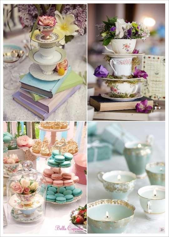 decoration mariage alice au pays des merveilles déco de table livre tasse à thé bougeoir