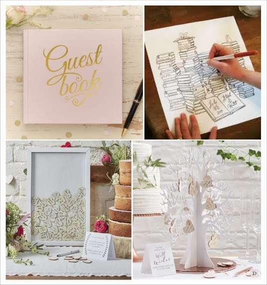 decoration mariage alice au pays des merveilles livre d'or rose et or cadre à message arbre à voeux
