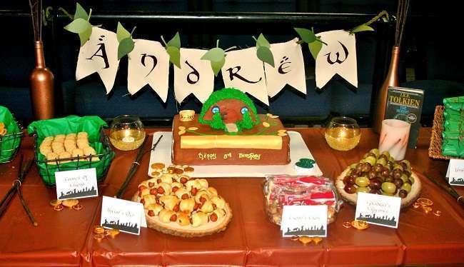 anniversaire theme seigneur des anneaux