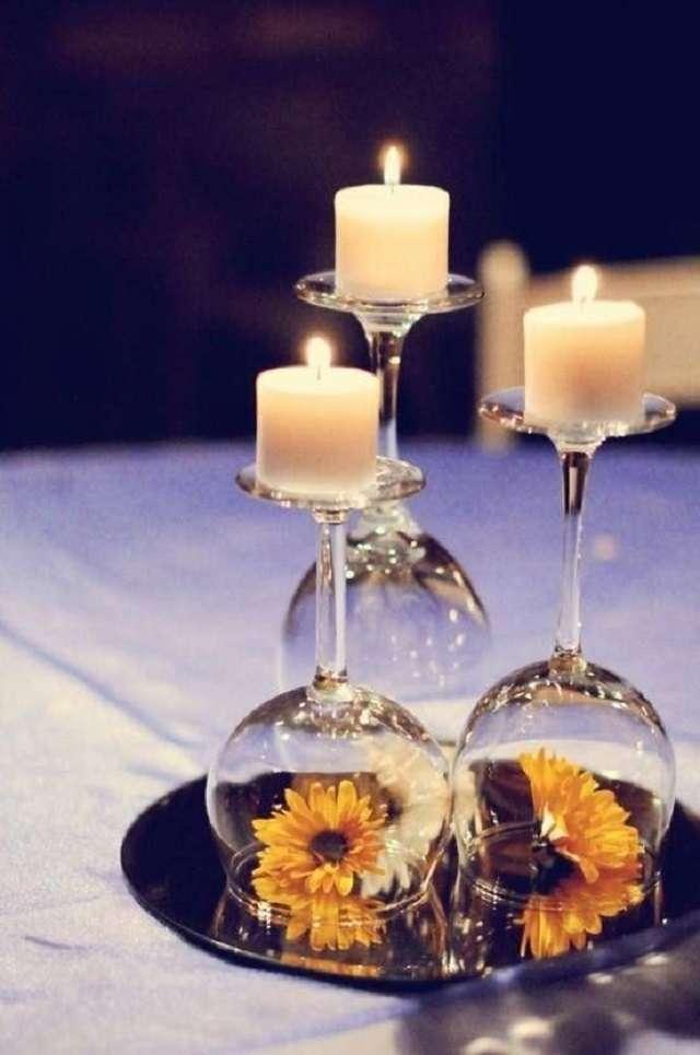 decoration table theme vin verre renverse