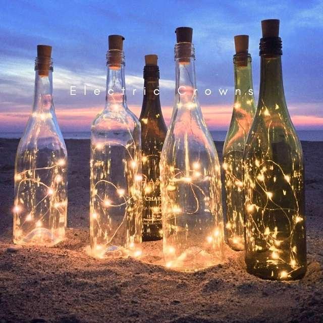 bouteille lumineuse decoration theme vin