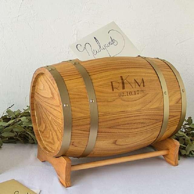 urne tonneau bois