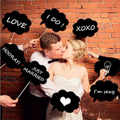 kit photobooth ardoise accessoires mariage