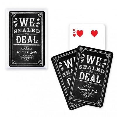 jeu de cartes personnalise effet ardoise