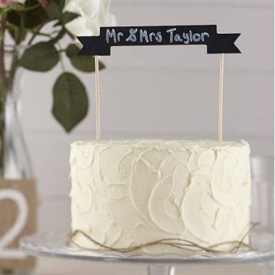 banniere ardoise cake topper gateau mariage