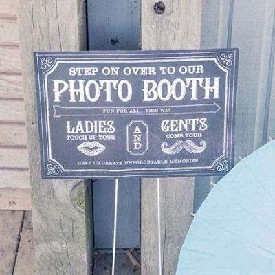 pancarte photobooth mariage ardoise