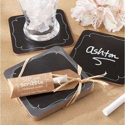 dessous verre ardoise cadeaux invités mariage