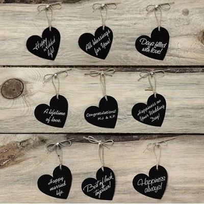 marque place coeur ardoise carton