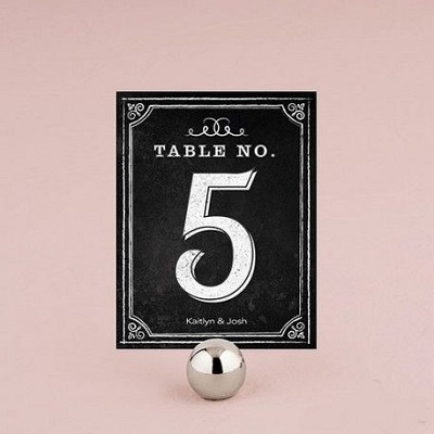 numéro de table mariage ardoise