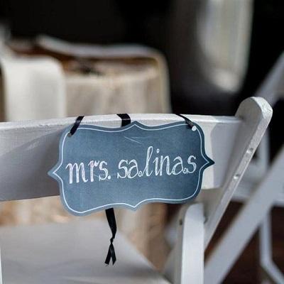 pancarte de chaise mariage ardoise
