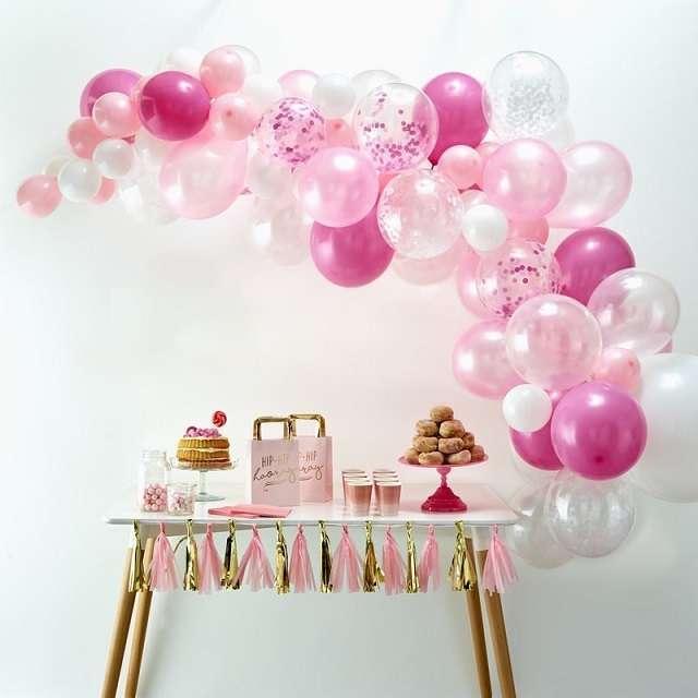 arche de ballons decoration mariage candy bar rose