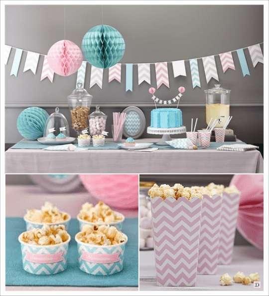 decoration mariage chevron_candy_bar pot glace gobelet carton popcorn