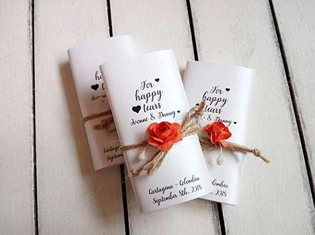 paquet mouchoir larmes de joie mariage