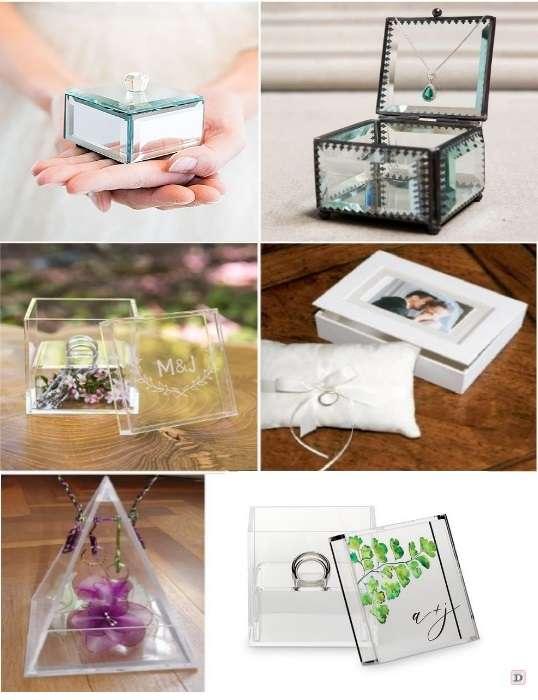 porte alliance mariage écrin en verre boite plexiglas grave