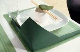 decoration mariage thème asie zen pliage serviette bordure